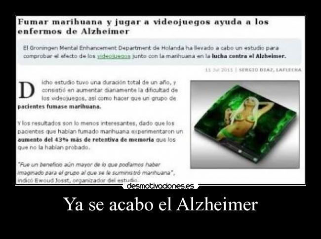 Ya se acabo el Alzheimer -