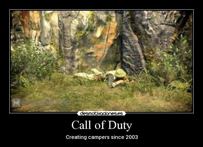 carteles call duty black ops cod campero camper modern warfare mw2 battlefield bad company nva desmotivaciones