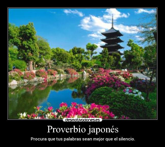 Proverbio japonés   Desmotivaciones
