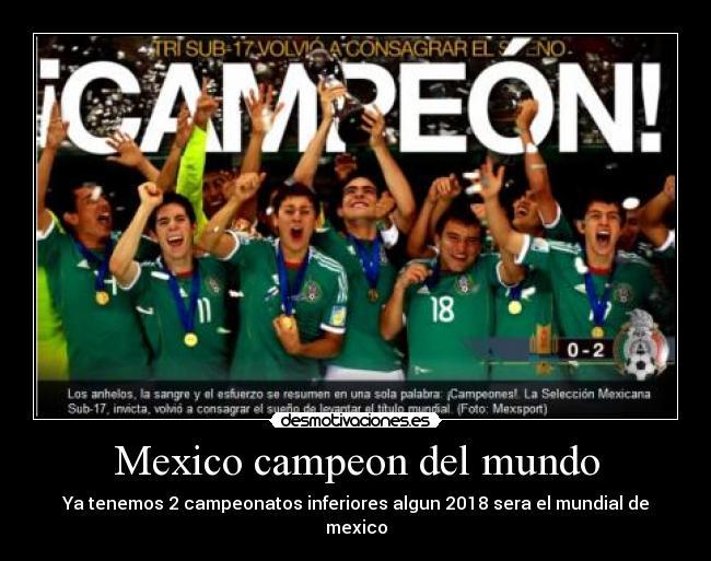México es candidato a realizar el Mundial de 2026 - Taringa!