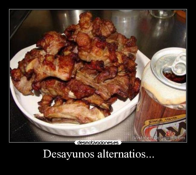 Desayunos alternatios... -