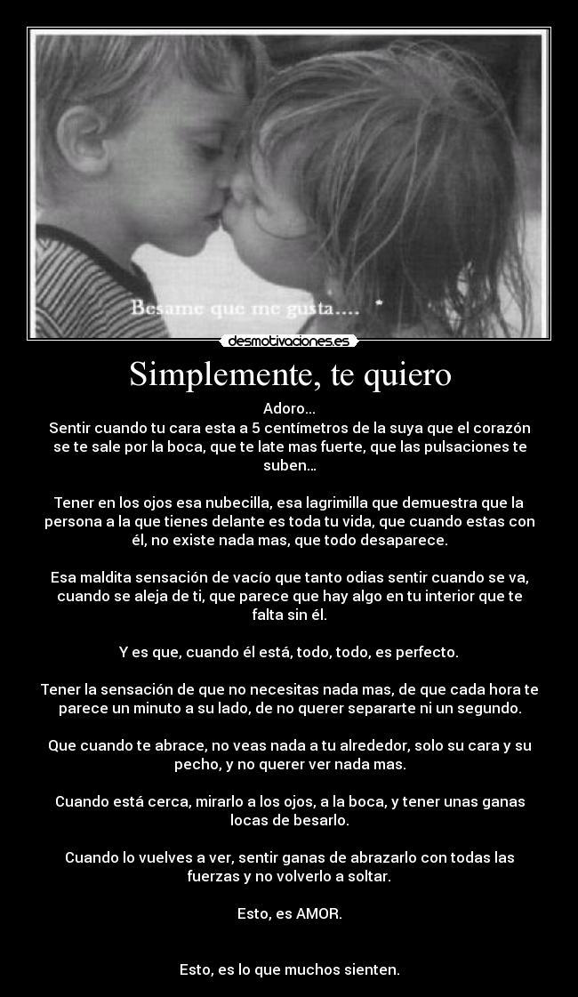 Simplemente, te quiero