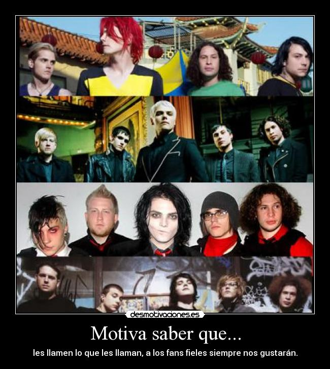carteles mcr chemical romance gerard way mikey ray toro frank iero bob bryar bullets cheers revenge parade desmotivaciones