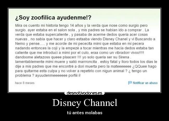 Disney Channel - tú antes molabas