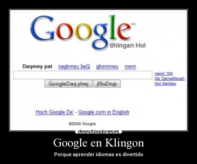 Imágenes Y Carteles De Klingon Pag 1 Desmotivaciones