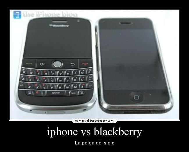 iphone vs blackberry - La pelea del siglo
