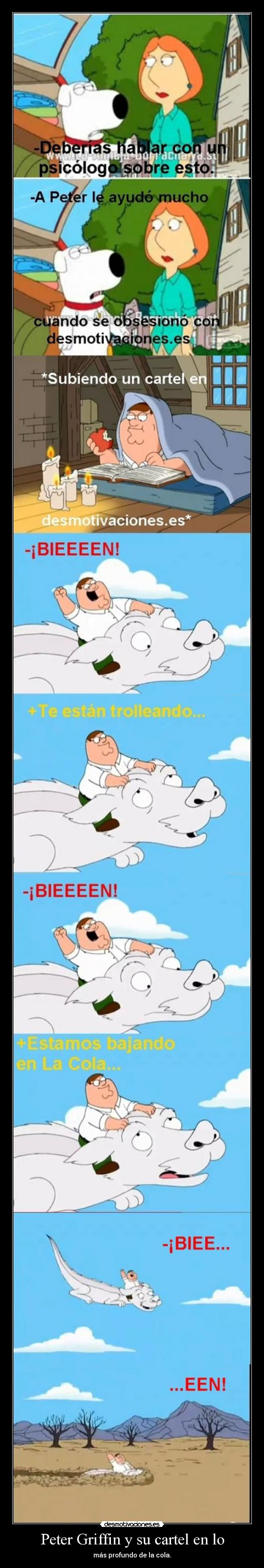 carteles peter griffin cartel cola padre familia historia interminable parodia version desmotivaciones