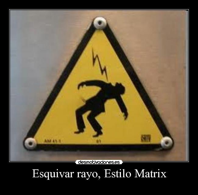 Esquivar-rayo-Estilo-Matrix