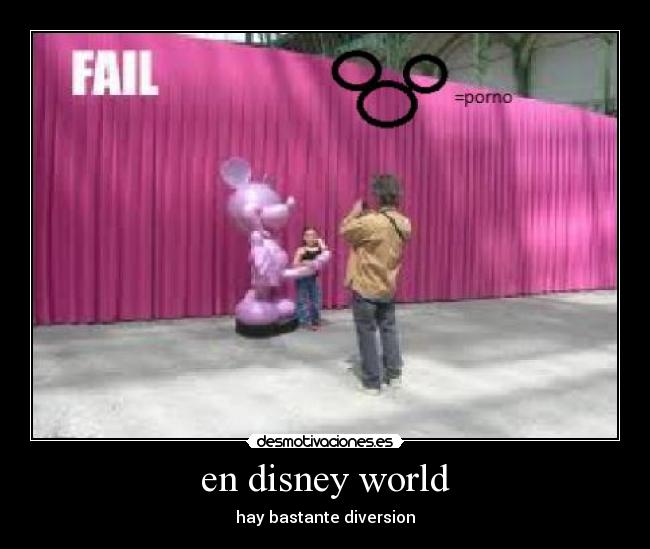 en disney world - hay bastante diversion