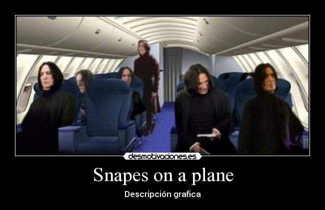 carteles snape serpientes avion avion animal harry potter magia serpiente desmotivaciones