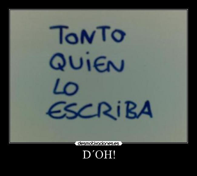 D´OH! -