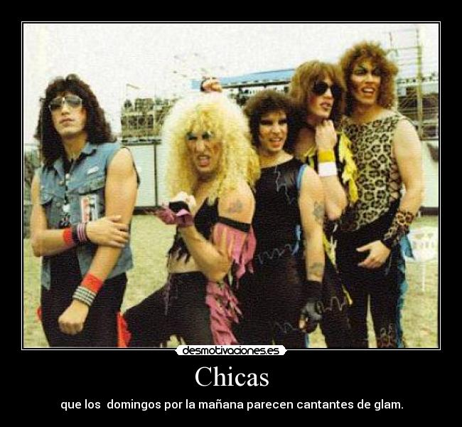 carteles twisted sister resaca glam desmotivaciones