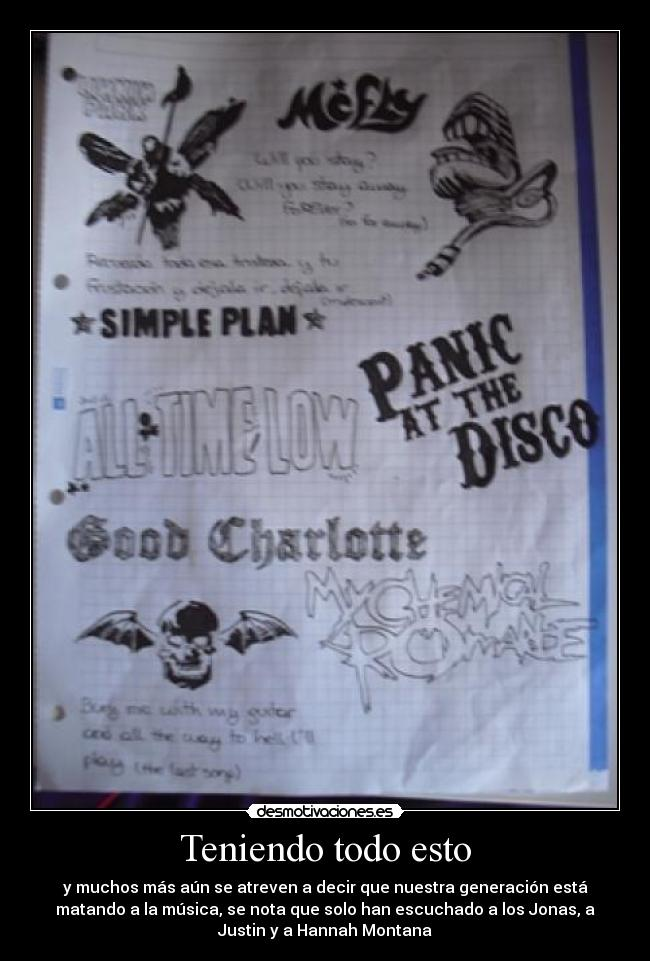 carteles mcfly simple plan good charotte chemical romance avenged sevenfold linkin park desmotivaciones