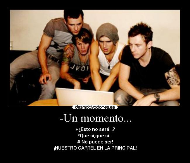 carteles mcfly dougie poynter harry judd tom fletcher danny jones cartel principal desmotivaciones