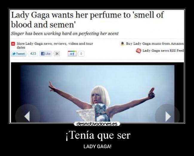 Resultado de imagen para perfume esperma lady gaga