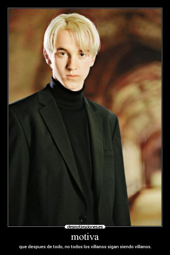 carteles tom felton draco malfoy harry potter desmotivaciones