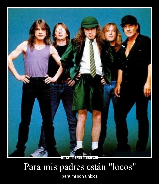carteles padres acdc angus young malcolm young bon scott brian johnson
