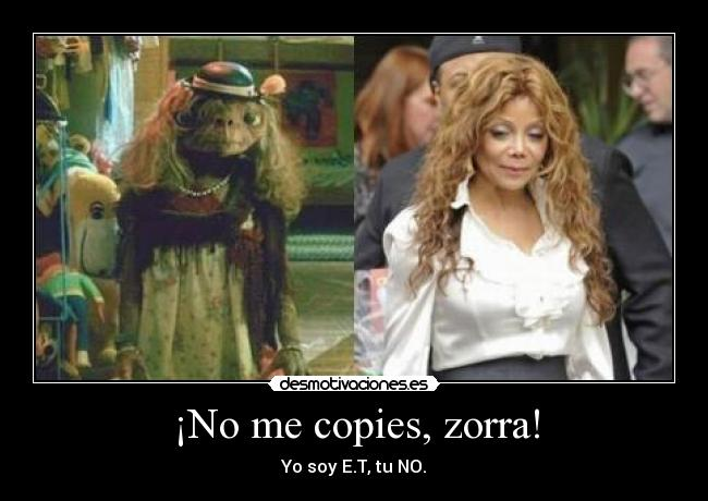 ¡No me copies, zorra! -