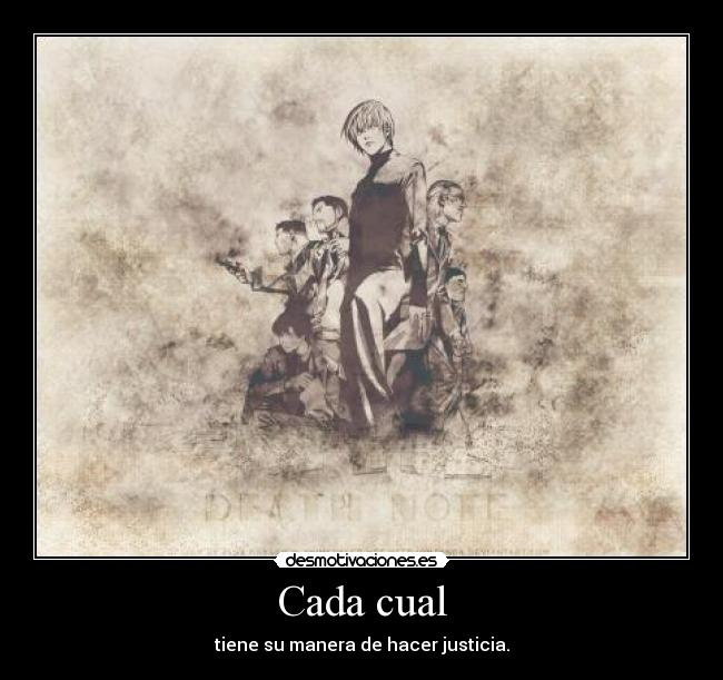 carteles death note justicia kira light yagami desmotivaciones