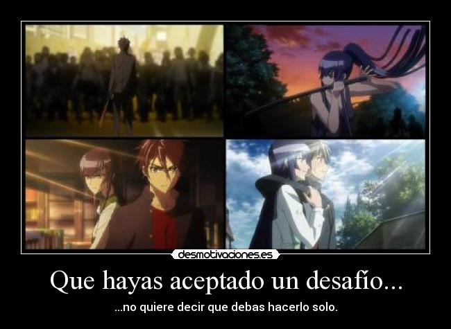 carteles hight school the death dead hotd anime desafio luchar solo compania desmotivaciones