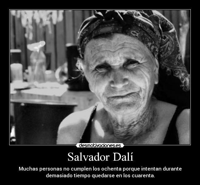 Salvador Dalí Desmotivaciones
