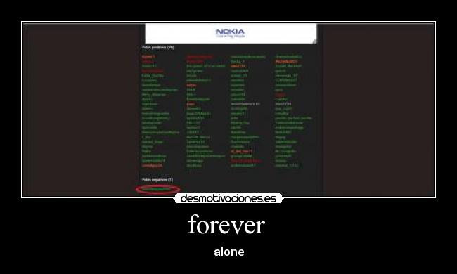 forever  - alone