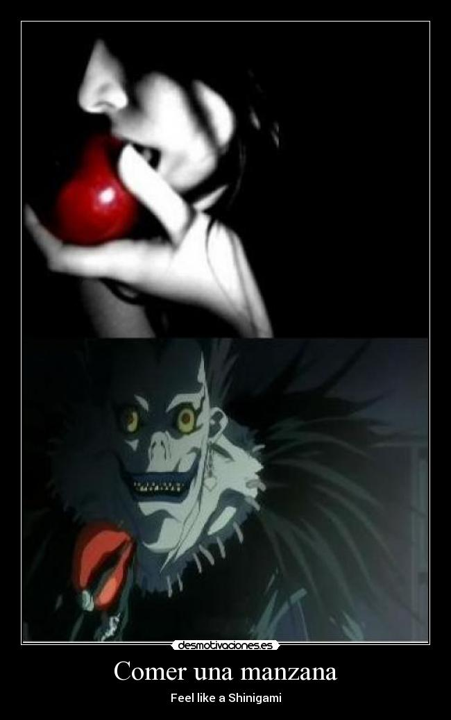 carteles feel like shinigami manzana desmotivaciones