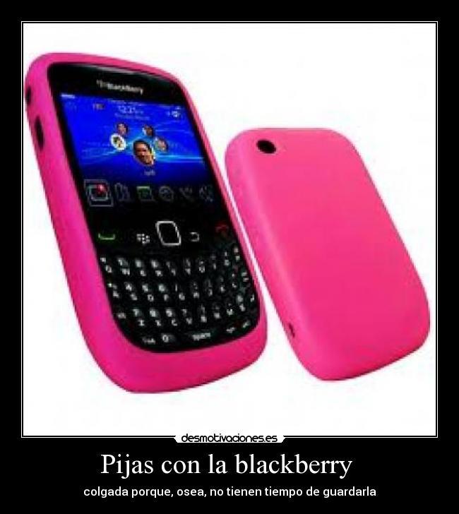 Pijas con la blackberry