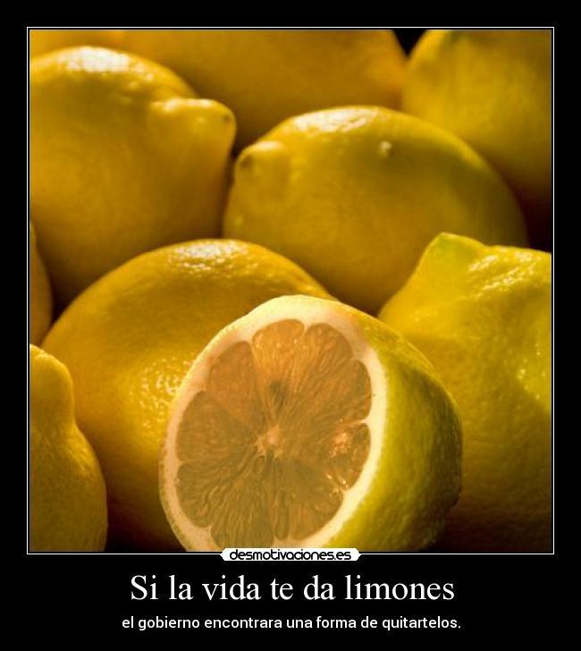 carteles vida vida limones desmotivaciones