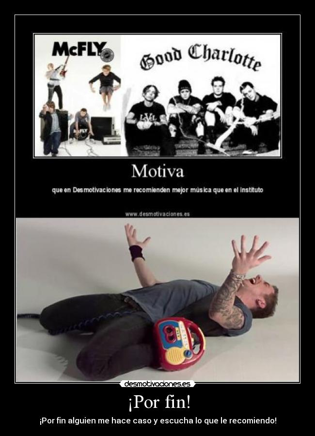carteles mcfly good charlotte danny jones desmotivaciones