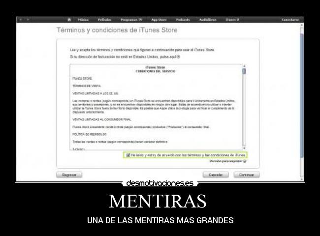MENTIRAS  - UNA DE LAS MENTIRAS MAS GRANDES
