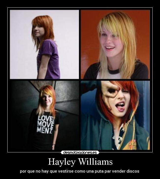 carteles hayley williams paramore desmotivaciones