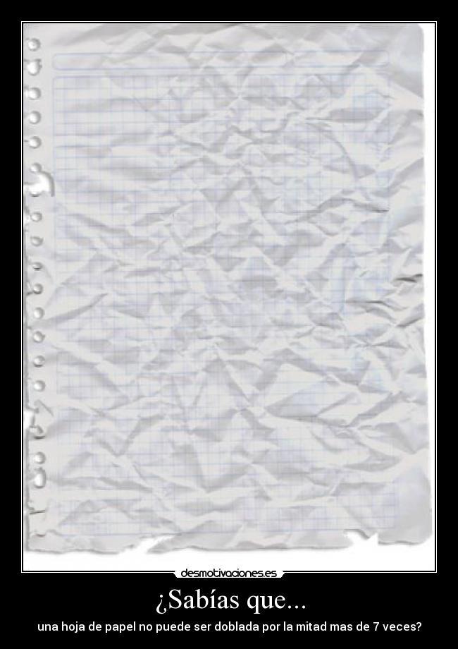 doblar papel 12 veces