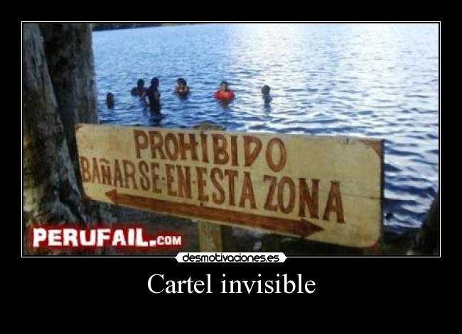 Cartel invisible -