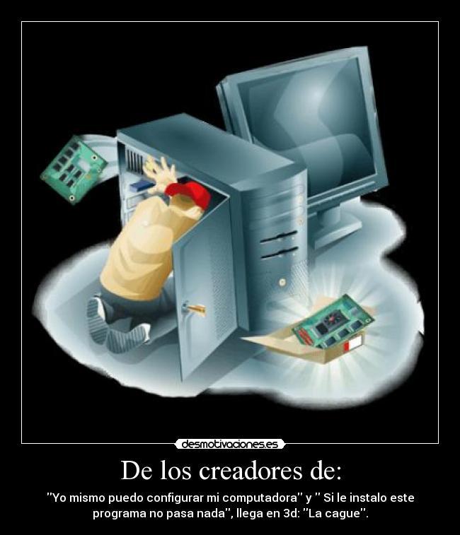 carteles computadora desmotivaciones