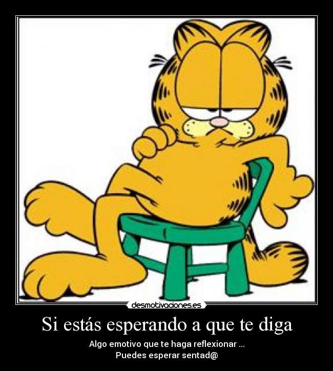 Reflexionar Esperar Sentado Garfield Desmotivaciones Desmotivaciones