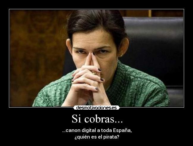 Si cobras... - ...canon digital a toda España, ¿quién es el pirata?