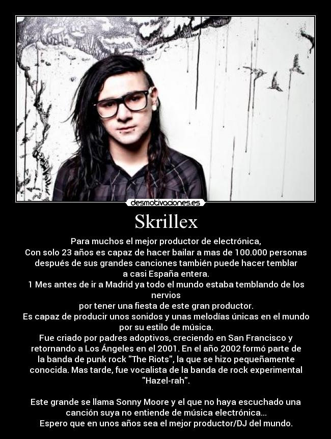 Desmotivaciones de Skrillex.