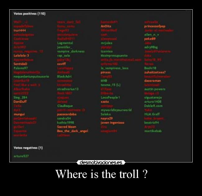 Where is the troll ? -