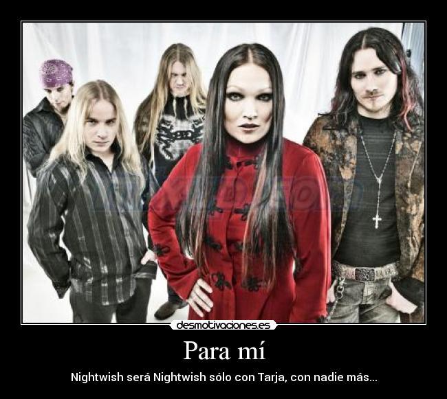 carteles tarja turunen nightwish metal desmotivaciones
