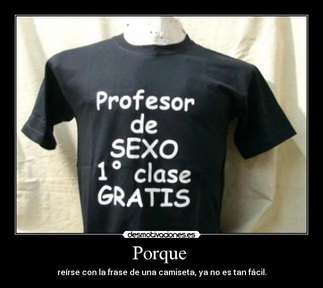 profesor de sexo