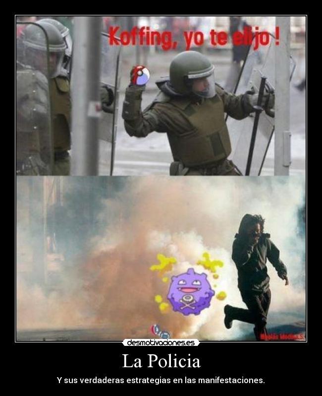 carteles policias que creen maestros pokemon desmotivaciones
