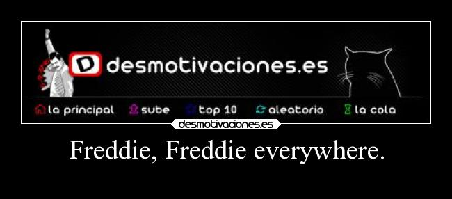 Freddie, Freddie everywhere. -