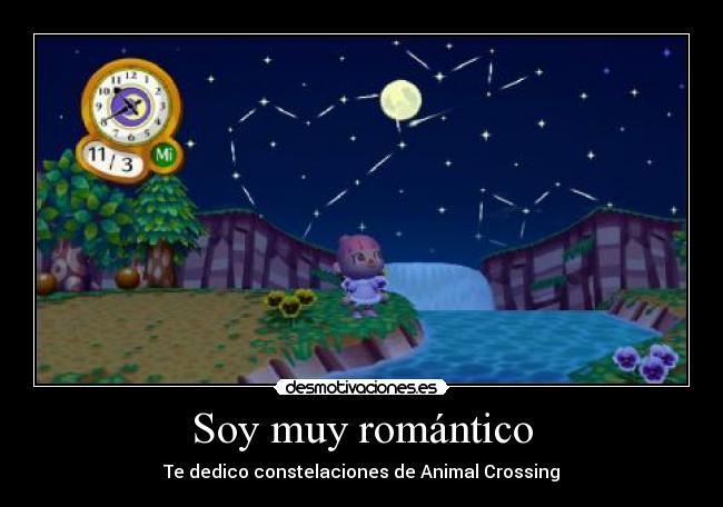 Soy muy romántico - Te dedico constelaciones de Animal Crossing