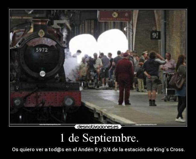 carteles harry potter kings cross desmotivaciones