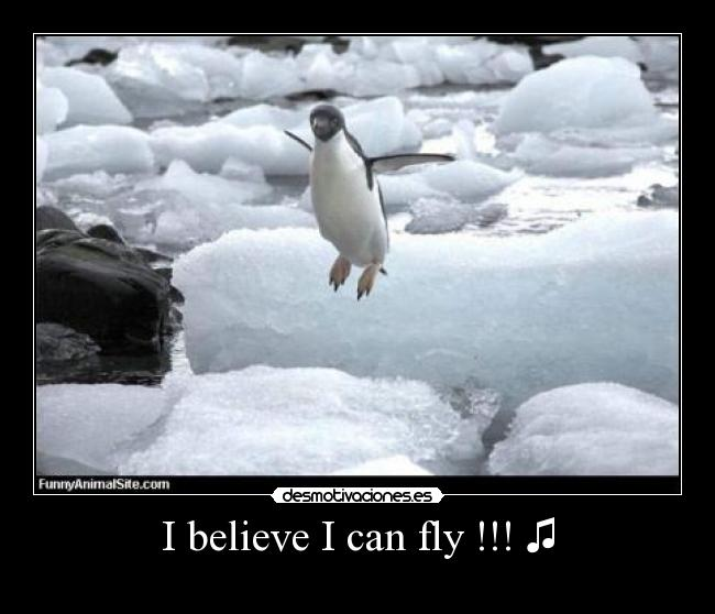 I believe I can fly !!! ♫ -