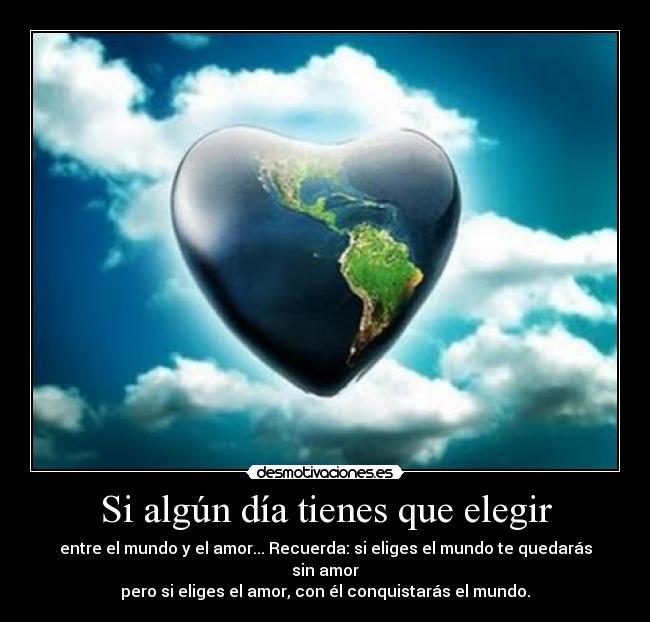 elegir amor:
