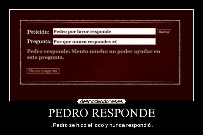 Pedro Responde