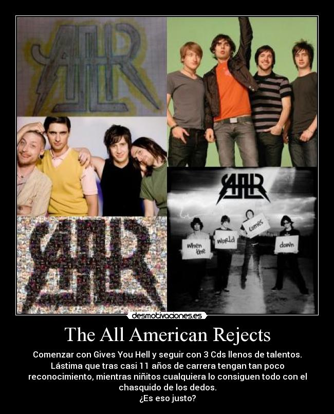 carteles the all american rejects desmotivaciones