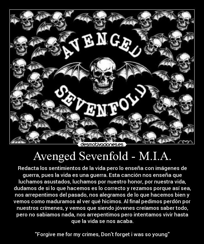 musica m.i.a avenged sevenfold